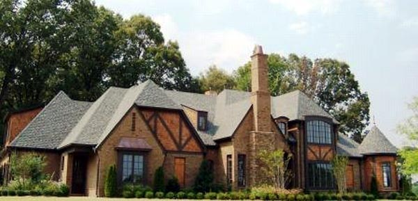Country, European, Tudor House Plan 48760 with 4 Beds, 4 Baths, 3 Car Garage Front Elevation