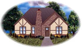 Traditional House Plan 48763 with 3 Beds, 2 Baths, 2 Car Garage Elevation