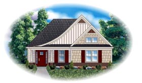 House Plan 48764 Elevation