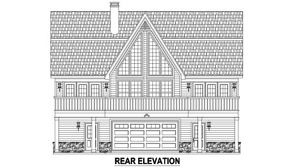 Country House Plan 48765 Rear Elevation