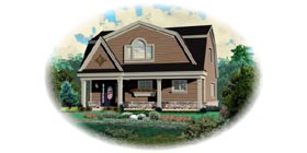 Country House Plan 48767 with 3 Beds, 3 Baths, 2 Car Garage Elevation