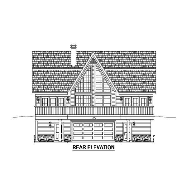 Country House Plan 48767 Rear Elevation