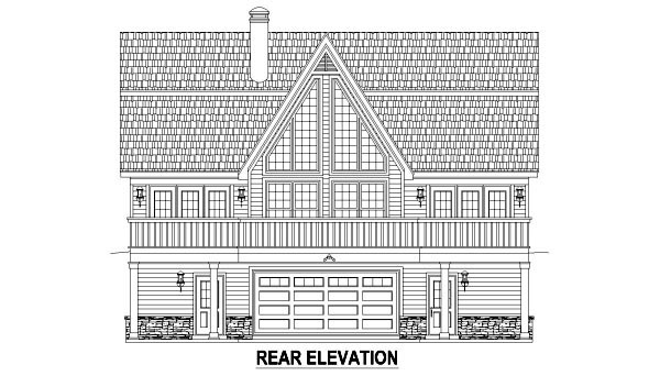 Country House Plan 48768 Rear Elevation
