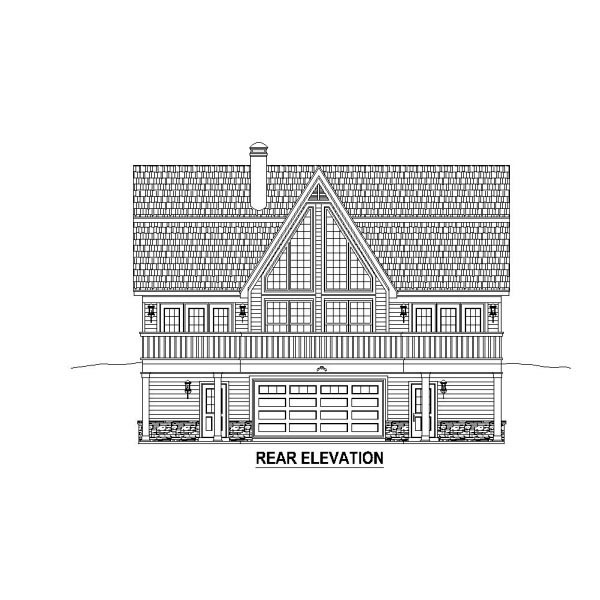 Country House Plan 48769 Rear Elevation