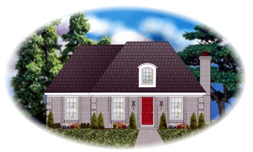 Country European House Plan 48770 Elevation