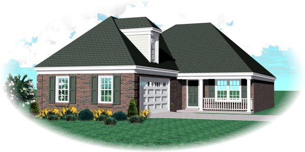 European Traditional House Plan 48771 Elevation