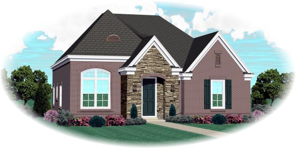 Country European House Plan 48772 Elevation