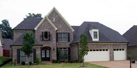 European House Plan 48775 with 5 Beds, 5 Baths, 3 Car Garage Elevation