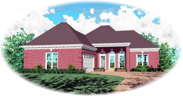 Traditional House Plan 48785 Elevation