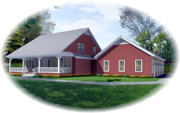 Country House Plan 48788 Elevation