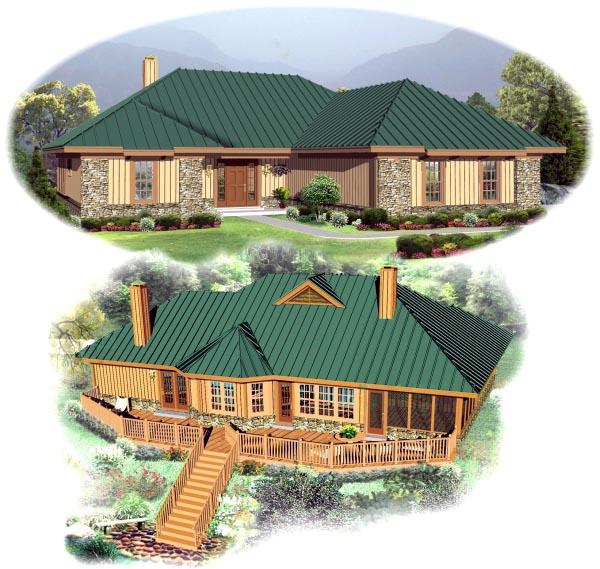 European House Plan 48789 Elevation