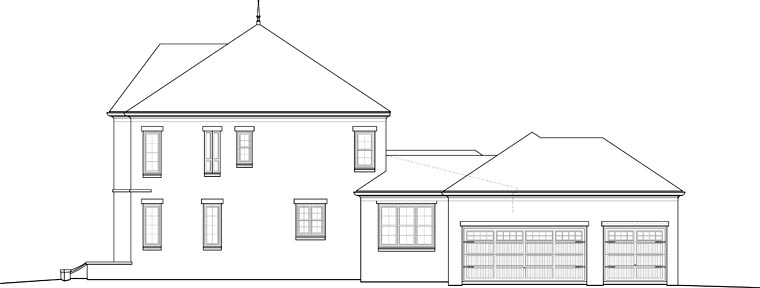 Country, European House Plan 48796 with 4 Beds, 4 Baths, 3 Car Garage Picture 2