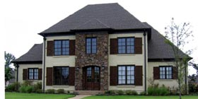 Country , European House Plan 48797 with 4 Beds, 5 Baths, 3 Car Garage Elevation