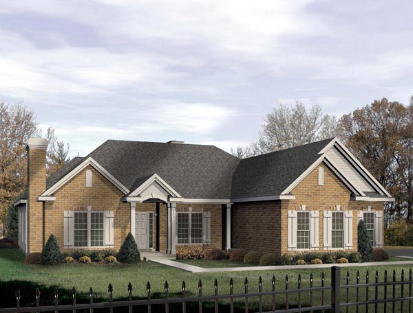 Traditional House Plan 49006 Elevation