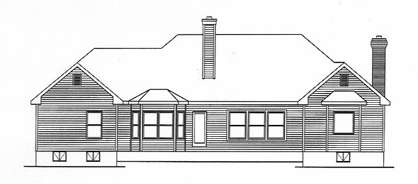 Traditional House Plan 49006 Rear Elevation