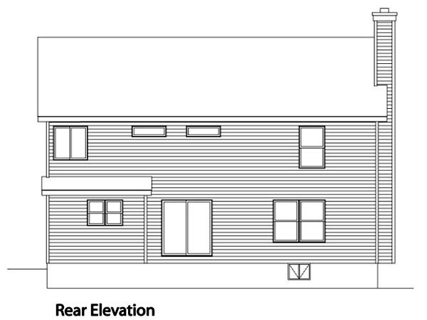 Traditional House Plan 49007 Rear Elevation