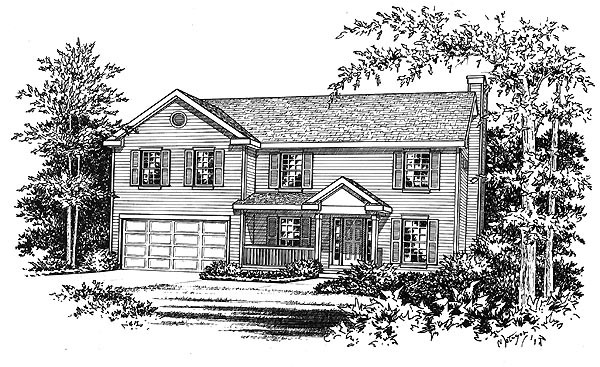 Traditional House Plan 49008 Elevation