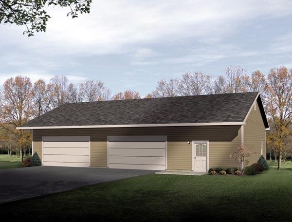 Ranch Garage Plan 49011 Elevation