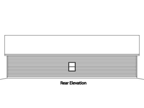 Ranch Garage Plan 49011 Rear Elevation