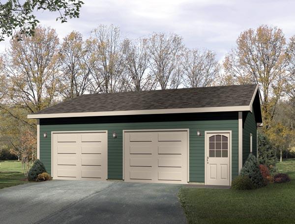 Ranch Garage Plan 49014 Elevation