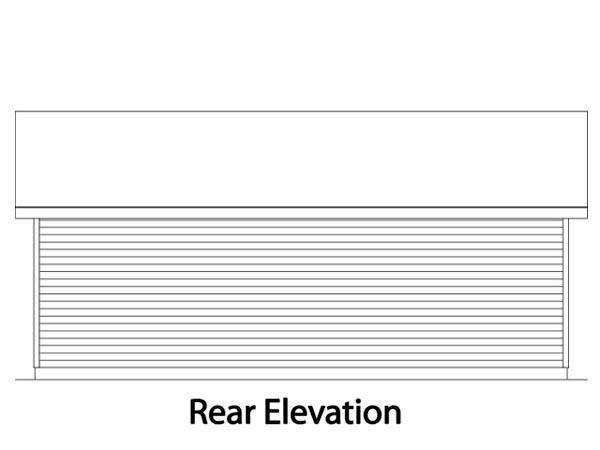 Ranch Garage Plan 49014 Rear Elevation