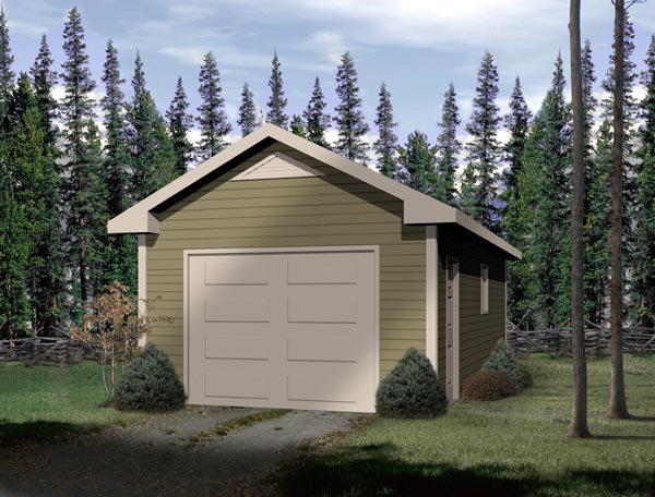 Traditional 1 Car Garage Plan 49018 Elevation