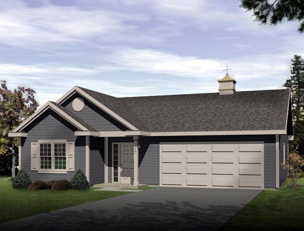 Ranch Garage Plan 49023 Elevation