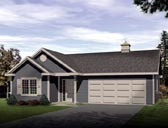 Plan Number 49023 - 665 Square Feet