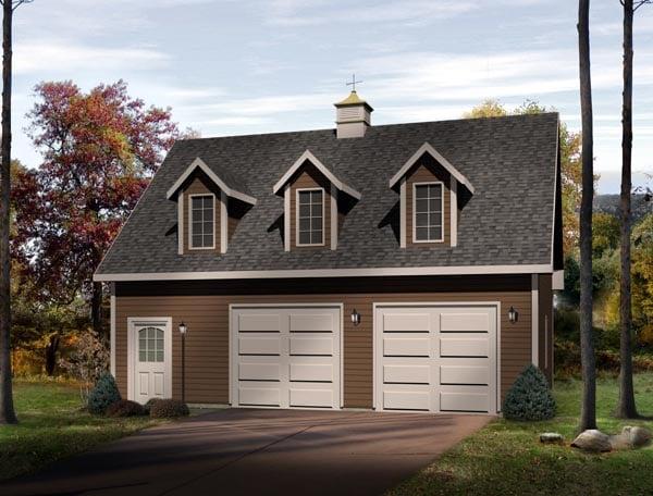 Farmhouse 2 Car Garage Plan 49024 Elevation