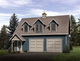 Country Garage Plan 49025 Elevation