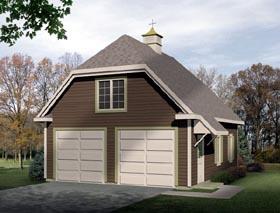 Traditional 2 Car Garage Plan 49027 Elevation