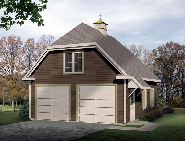 Traditional 2 Car Garage Plan 49027 Elevation