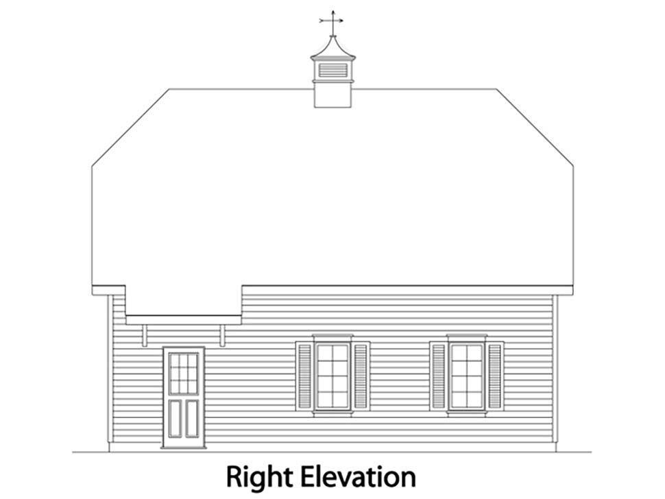 Traditional 2 Car Garage Plan 49027 Picture 1