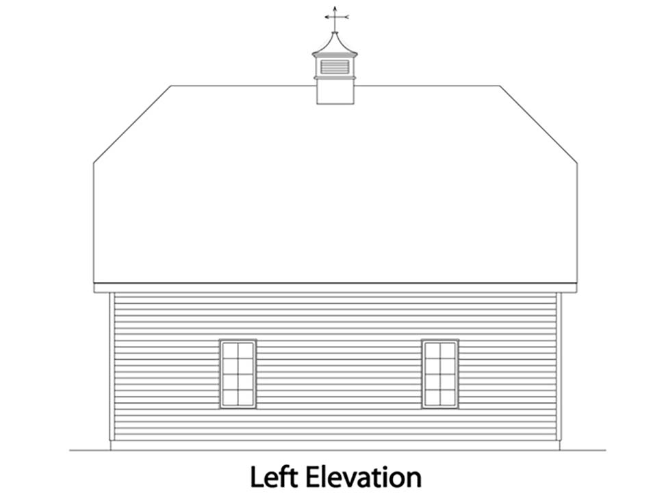 Traditional 2 Car Garage Plan 49027 Picture 2