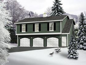 Country Garage Plan 49029 Elevation