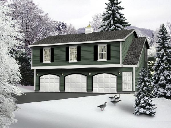 Country Garage Plan 49029 Elevation
