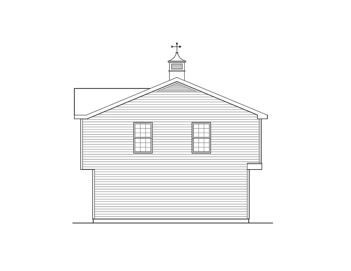 Country 3 Car Garage Apartment Plan 49029 with 2 Beds, 1 Baths Picture 2