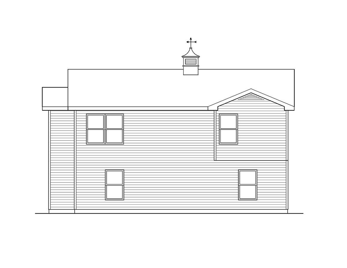 Country Garage Plan 49029 Rear Elevation