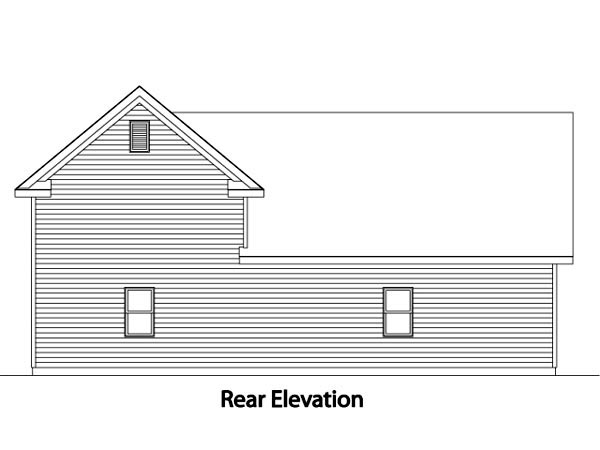 Traditional Rear Elevation of Plan 49031