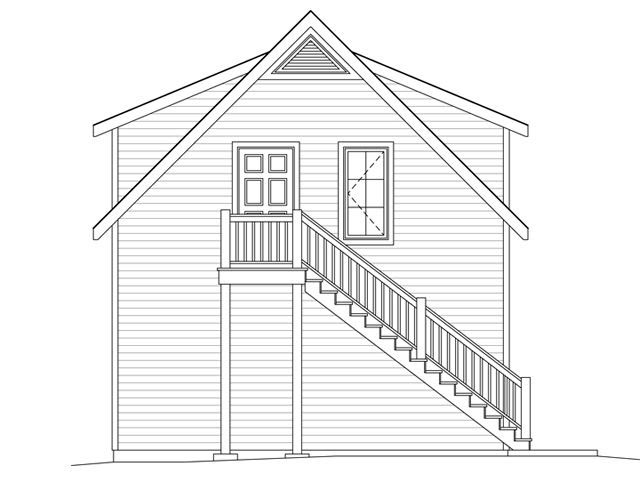 2 Car Garage Apartment Plan 49036 with 1 Beds, 1 Baths Picture 1