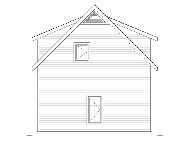 2 Car Garage Apartment Plan 49036 with 1 Beds, 1 Baths Picture 2