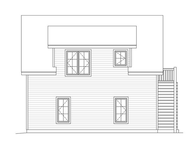 House Plan 49036 Rear Elevation