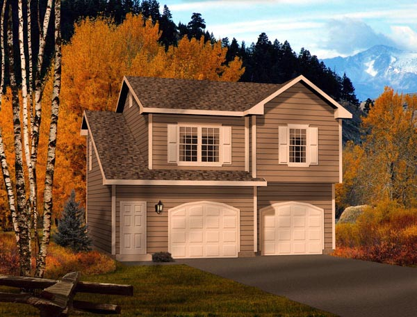 Traditional Garage Plan 49038 Elevation