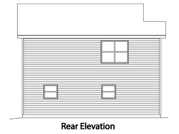 Traditional Garage Plan 49038 Rear Elevation