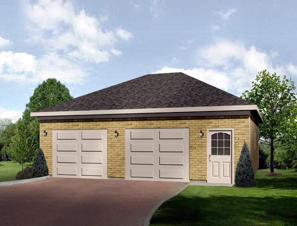 European 2 Car Garage Plan 49042 Front Elevation