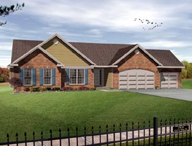 Traditional House Plan 49061 with 3 Beds, 3 Baths, 3 Car Garage Elevation