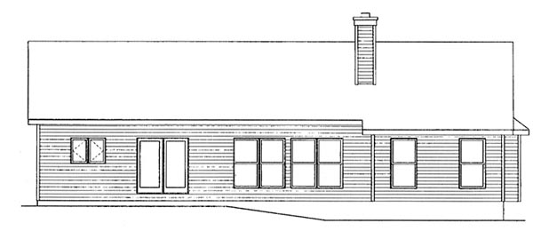 Traditional House Plan 49061 Rear Elevation