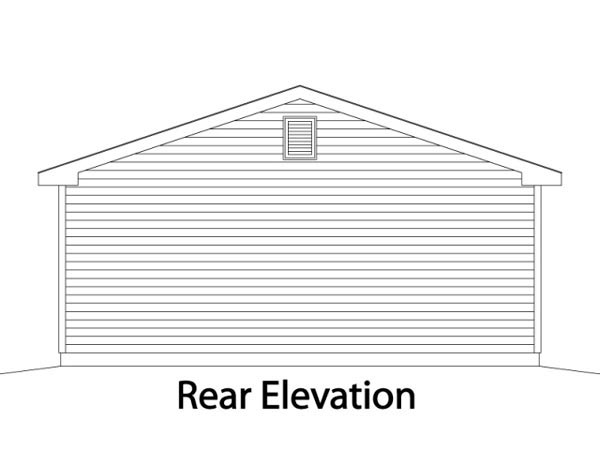 Garage Plan 49067 Rear Elevation