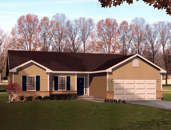 Ranch House Plan 49068 Elevation