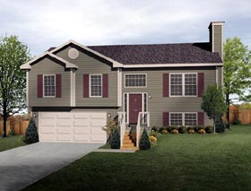 Traditional House Plan 49071 with 3 Beds, 2 Baths, 2 Car Garage Elevation